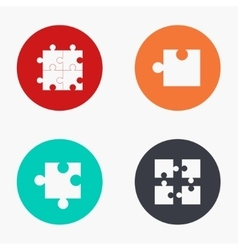 modern puzzle colorful icons set vector image