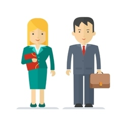 profession businessman and businesswoman vector image vector image