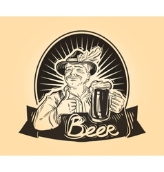 Pub brasserie logo design template Drink vector image vector image