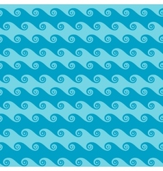 Seamless sea wave abstract pattern vector image vector image