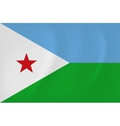 Djibouti waving flag vector image