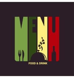 food and drink menu label design background vector image vector image