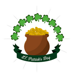 gold st patricks day icon vector image