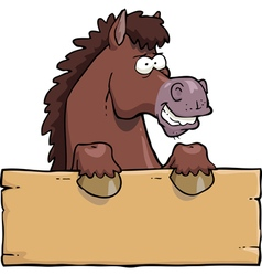 horse head with a board vector image vector image