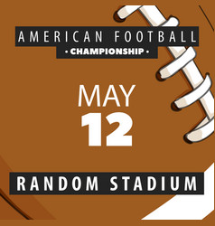 posters of competitions in american football vector image vector image