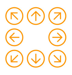 8eight orange arrows in circle with different vector image