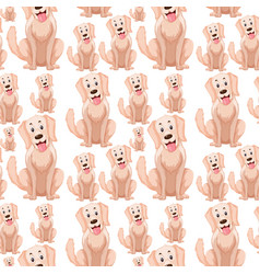 a dog seamless pattern vector image
