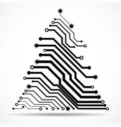 abstract technology christmas tree vector image
