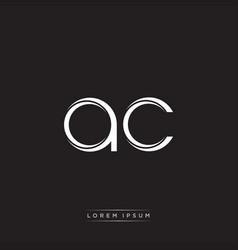 Ac initial letter split lowercase logo modern vector