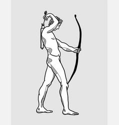 Adriaen de vries apollo with bow for shooting vector