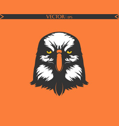 angry eagle silhouette cartoon edition vector image
