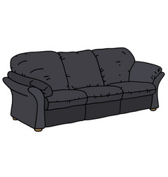 black big sofa vector image