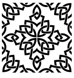 Black Celtic seamless pattern vector