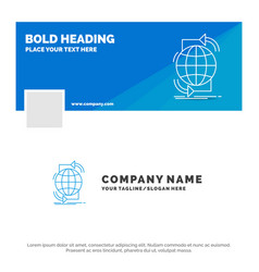 blue business logo template for connectivity vector image