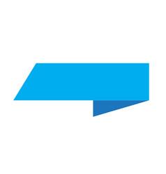 blue ribbon banner sign blue ribbon banner on vector image