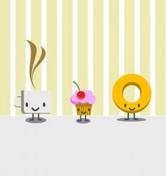 Breakfast characters vector