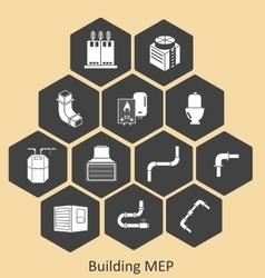 Building mep - mechanical-plumbing vector
