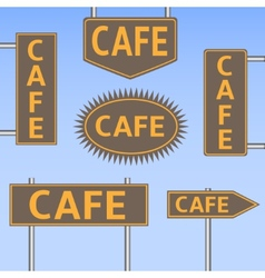 Cafe banners vector image