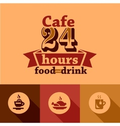 Cafe labels vector
