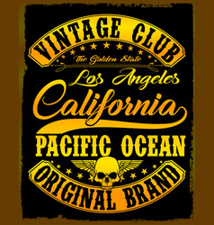 california vintage slogan man t shirt graphic vector image