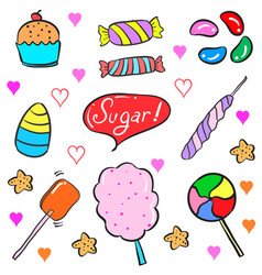 Candy doodle style vector