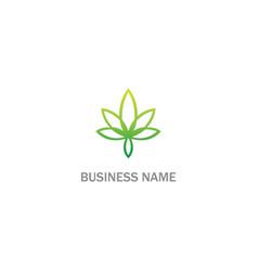 Cannabis green leaf weed logo vector