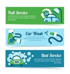 Car wash banners vector