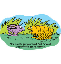 Cartoon insects talking vector