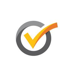 check mark icon vector image