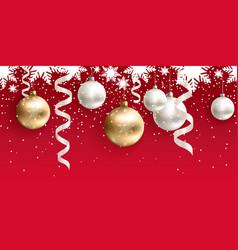 christmas decoration for site horizontal seamless vector image