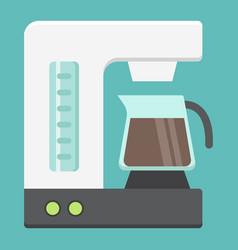 Coffee maker flat icon kitchen and appliance vector