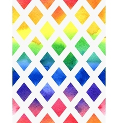 Colorful watercolor seamless geometric pattern vector image