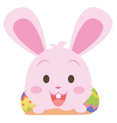 easter bunny smile character collection vector image
