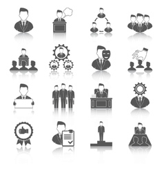 Executive icons black vector image