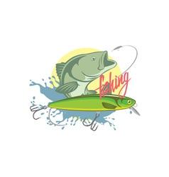 Fishing bass vector
