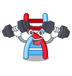 Fitness dna molecule character cartoon vector