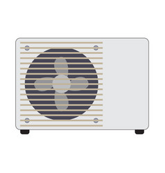 Flat color air conditioner icon vector
