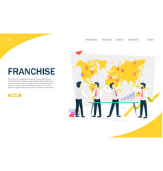 Franchise website landing page design vector