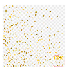 Golden glitter polka dot pattern vector