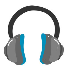 headphones on white background vector image