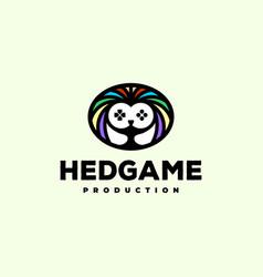 hedgehog game logo vector image
