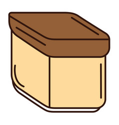 Hermetic food container icon vector