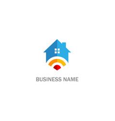 Home signal sign technology logo vector