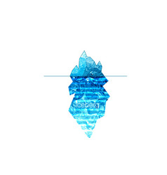 iceberg icon isolated on white background vector image