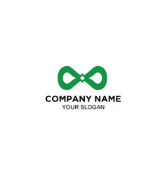 Infinity green logo design vector