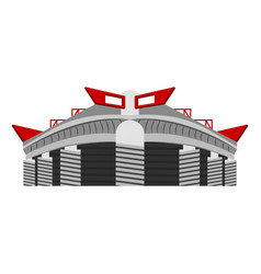 Isolated soccer stadium vector