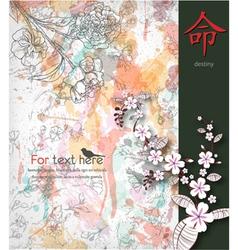 Japanese ilustration vector