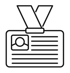 Job id card icon outline style vector