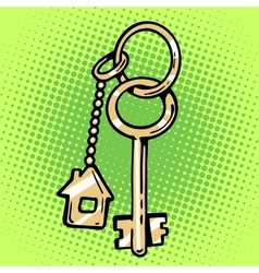 Keychain house keys vector