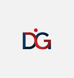 letter dg people creative logo design vector image